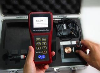 AEC670 Digital Portable Eddy Current Electrical Conductivity Meter